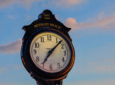 Bethany Beach Clock Art Print