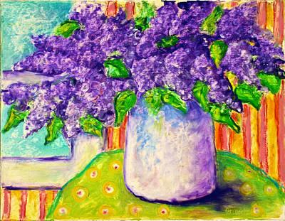 Pastel - Bethanys Lilacs by Pat Olson