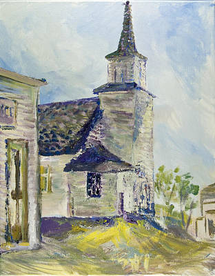 Bethel Church At Buckstop Junction Art Print by Helen Campbell