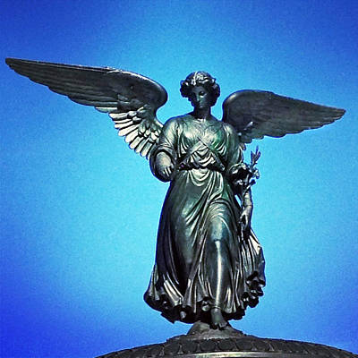 Bethesda Fountain Angel Central Park Ny Art Print by Kathleen Anderle