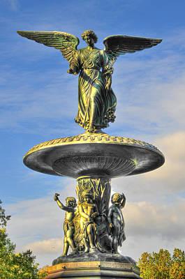 Bethesda Fountain Angel Statue Art Print by Randy Aveille