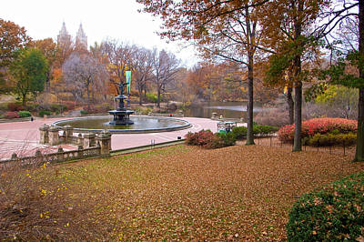 Photograph - Bethesda Fountain by Cornelis Verwaal