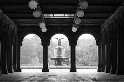 Photograph - Bethesda Terrace  1990s by Dave Beckerman