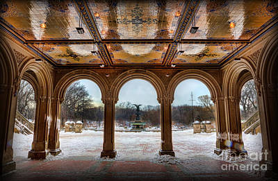 Photograph - Bethesda Terrace Lower Passage II by Lee Dos Santos