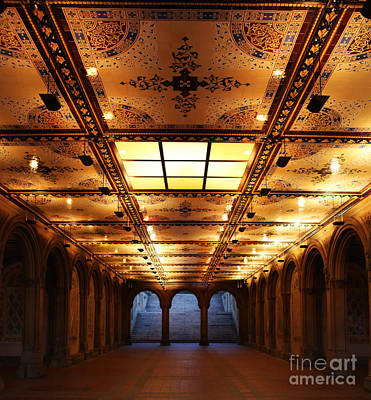 Photograph - Bethesda Terrace Lower Passage by Lee Dos Santos