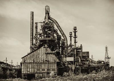 Bethlehem Digital Art - Bethlehem Pa Steel Plant   by Bill Cannon