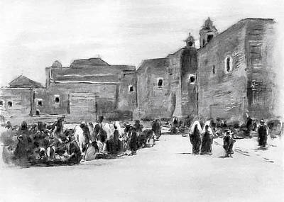 Photograph - Bethlehem Painting 1928 by Munir Alawi