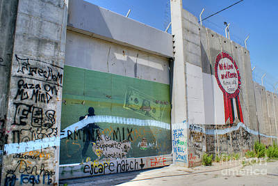 Photograph - Bethlehem Separation Wall 4 by David Birchall