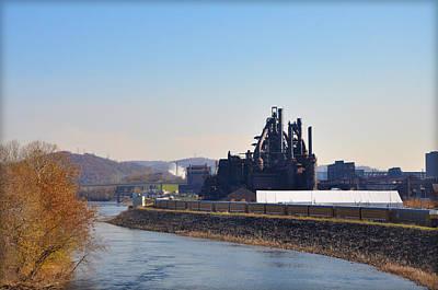 Bethlehem Digital Art - Bethlehem Steel And The Lehigh River by Bill Cannon