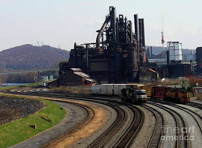 Photograph - Bethlehem Steel - Around The Bend by Jacqueline M Lewis