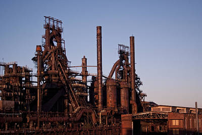 Photograph - Bethlehem Steel At Sunset by Michael Dorn