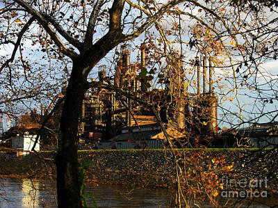Photograph - Bethlehem Steel Cathedral On The Lehigh River by Jacqueline M Lewis