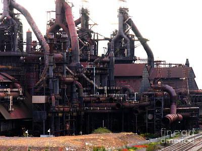 Photograph - Bethlehem Steel Complex Structure by Jacqueline M Lewis