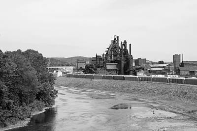 Photograph - Bethlehem Steel In Black And White by Michael Dorn
