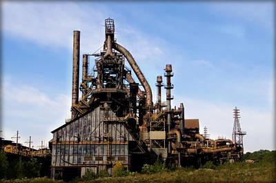 Lehigh Photograph - Bethlehem Steel Mill by Bill Cannon