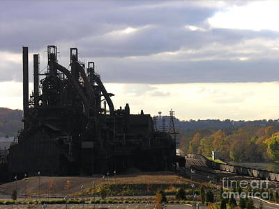 Photograph - Bethlehem Steel On The Lehigh River by Jacqueline M Lewis