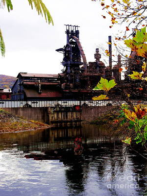 Photograph - Bethlehem Steel Reflections One by Jacqueline M Lewis
