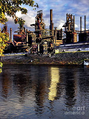 Photograph - Bethlehem Steel Reflections Two by Jacqueline M Lewis