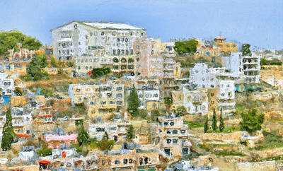 Impressionistic Landscape Digital Art - Bethlehem by Yury Malkov