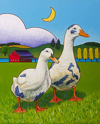 Painting - Betsy And Walter Of Whidbey by Stacey Neumiller