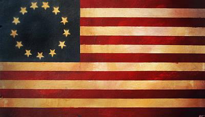 Betsy Ross Painting - Betsy Ross Flag by Adam Varga