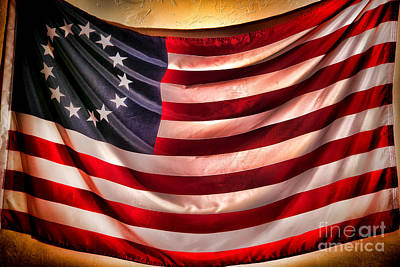 Old Glory Wall Art - Photograph - Betsy Ross Flag by Olivier Le Queinec