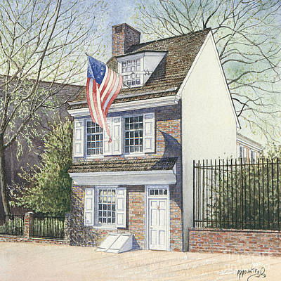 Betsy Ross Painting - Betsy Ross House by Keith Mountford