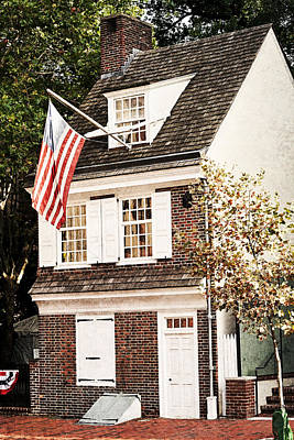 Photograph - Betsy Ross House by Michael Porchik