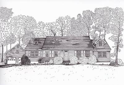 Drawing - Betsy's House by Michelle Welles