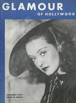 Davis Photograph - Bette Davis On The Cover Of Glamour by Artist Unknown