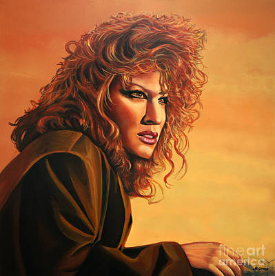 Singer Songwriter Painting - Bette Midler by Paul Meijering
