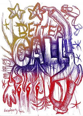Better Call 666 Colour Version Print by Eusebio Guerra