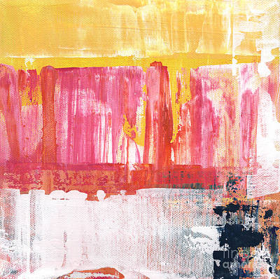 Pink Cards Painting - Better Days- Large Abstract by Linda Woods