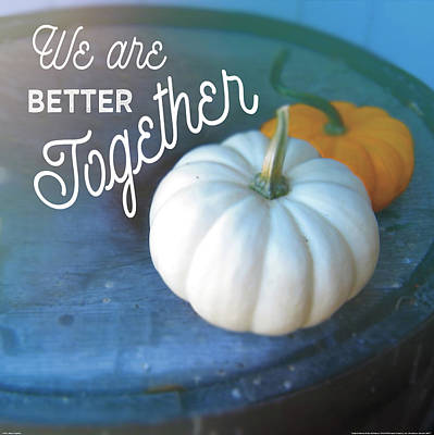 Pumpkins Painting - Better Together by Sue Schlabach