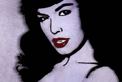 1950 Movies Painting - Bettie Page 2 by Tony Rubino