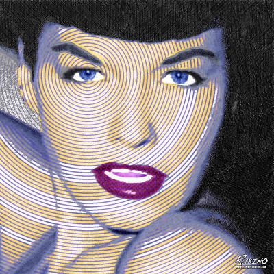 1950 Movies Painting - Bettie Page by Tony Rubino