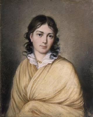 C19th Photograph - Bettina Von Arnim Oil On Canvas by German School