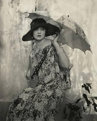 Photograph - Betty Blythe Wearing A Lenief Dress by Edward Steichen