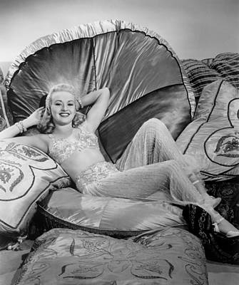 Betty Grable Reclining Art Print