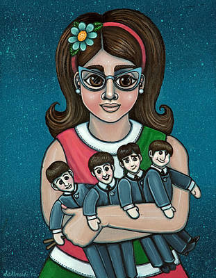 Starr Painting - Betty Jeans Beatles by Victoria De Almeida