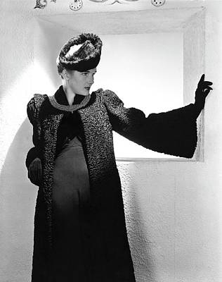 Photograph - Betty Ribble Wearing A Ben W. Cohen Coat by Horst P. Horst