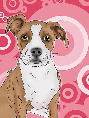 Betty The Boxer Art Print by Tony Clark