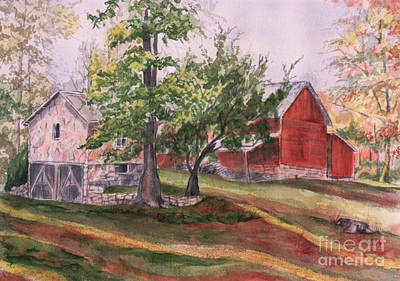 Betty's Barn Art Print by Janet Felts
