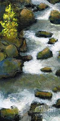 Between A Rock And A Great Place Art Print by Frances Marino