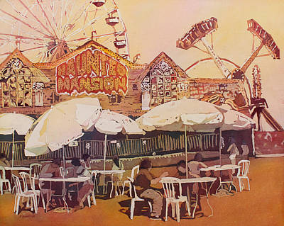 Amusement Parks Painting - Between Amusements by Jenny Armitage