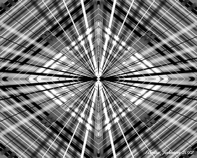 Digital Art - Between Black And White by Brian Johnson