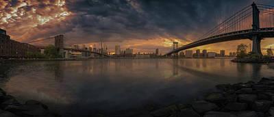 Between Bridges Art Print