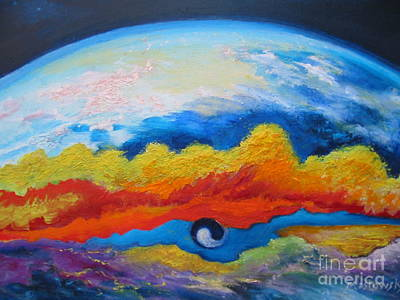 Horrific Painting - Between Heaven And Earth by Myra Maslowsky