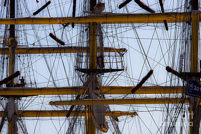 Photograph - Between Masts And Ropes by Edgar Laureano