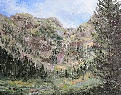 Painting - Between Silverton And Ouray Hwy 550 En Plein Air by Roena King